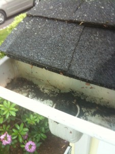 A downspout can be the cause of common gutter problems