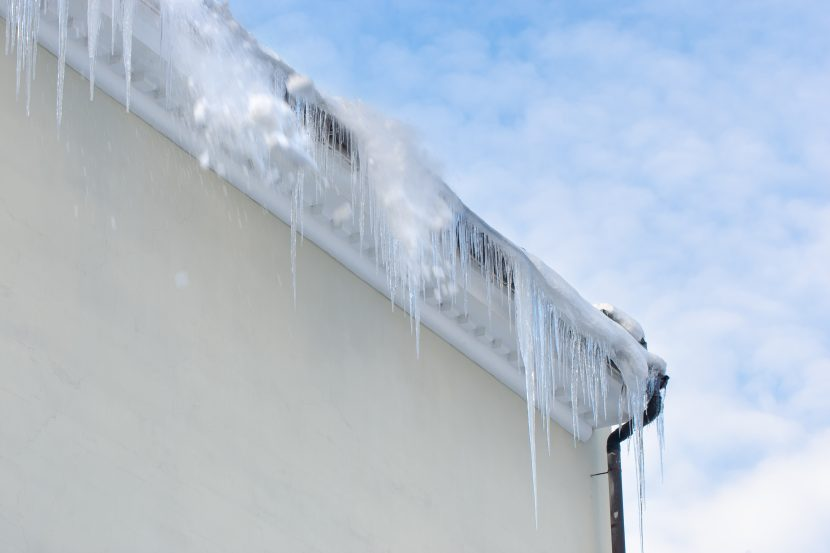 gutter guard icicles