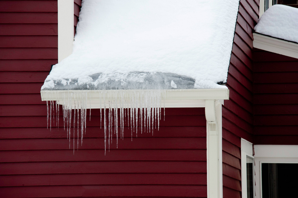 Icicles From Ice Dams