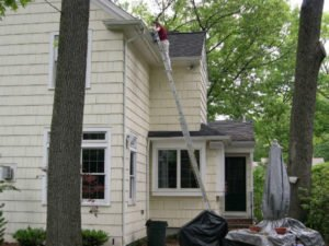 spring gutter guard cleaning